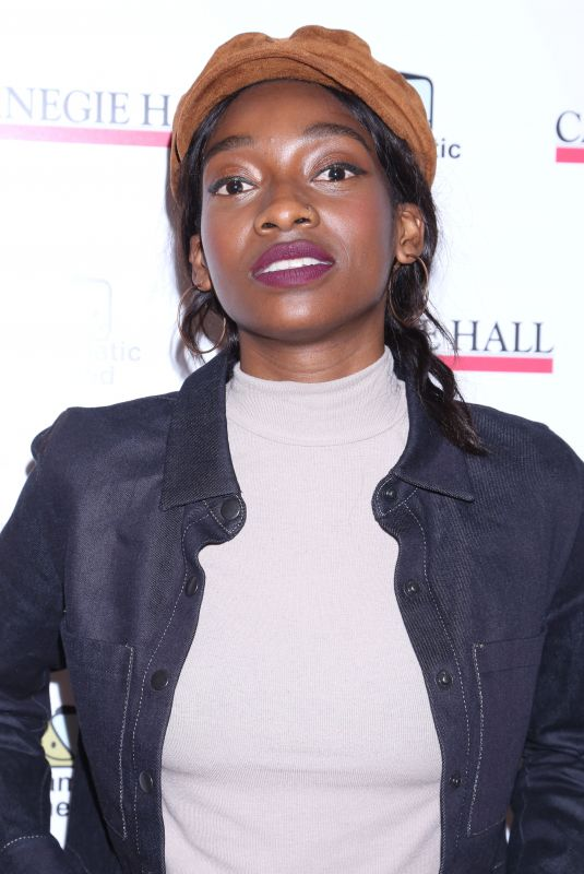 LITTLE SIMZ at The Children's Monologues at Carnegie Hall in New York 11/13/2017