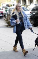 LORRAINE GILLES Walks Her Dog in Los Angeles 11/09/2017