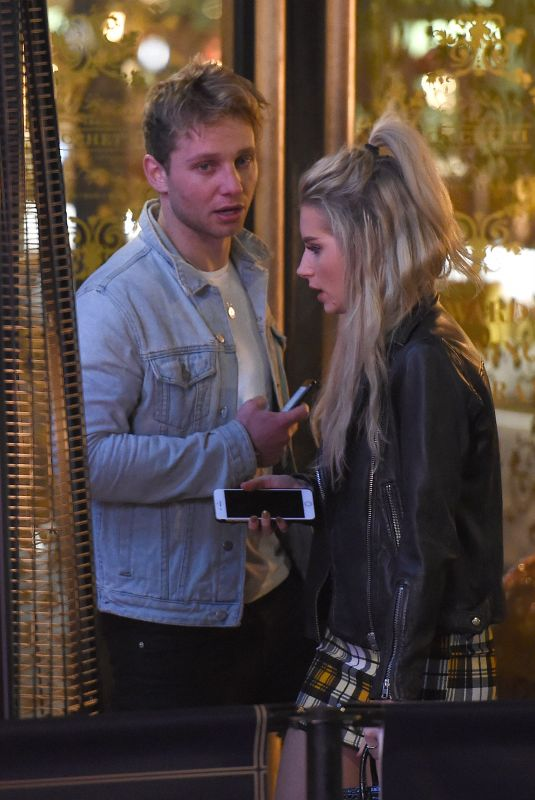LOTTIE MOSS and Tom Dolemore Night Out in London 11/25/2017