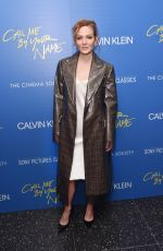 LOUISA KRAUSE at Call Me by Your Name Screening in New York 11/16/2017