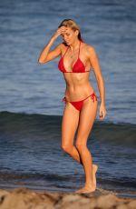 LOUISA WARWICK in Bikini at a Beach in Miami 11/24//2017