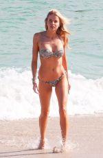 LOUISA WARWICK in Bikini at a Beach in Miami 11/26/2017
