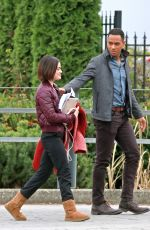 LUCY HALE and Elliot Knight Out in Burnaby 11/07/2017