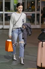 LUCY HALE at Vancouver International Airport 11/13/2017
