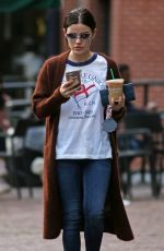 LUCY HALE Out for Iced Coffee in Vancouver 11/17/2017