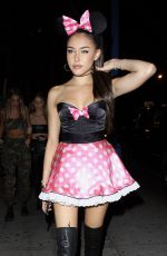 MADISON BEER Arrives at Halloween Bash in Los Angeles 11/01/2017
