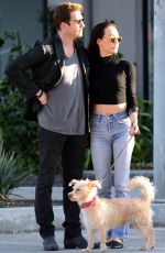 MAGGIE Q and Dylan McDermott Out at Melrose Avenue in West Hollywood 11/09/2017