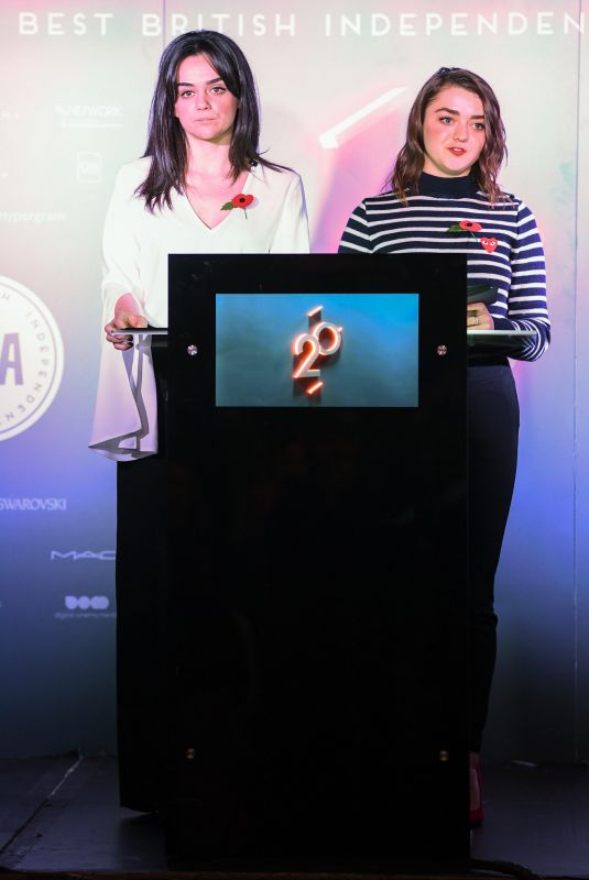 MAISIE WILLIAMS and HAYLEY SQUIRES at British Independent Film Awards Nominations in London 11/01/2017