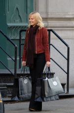 MALIN AKERMAN and Damien Lewis on the Set of Billions in New York 11/20/2017