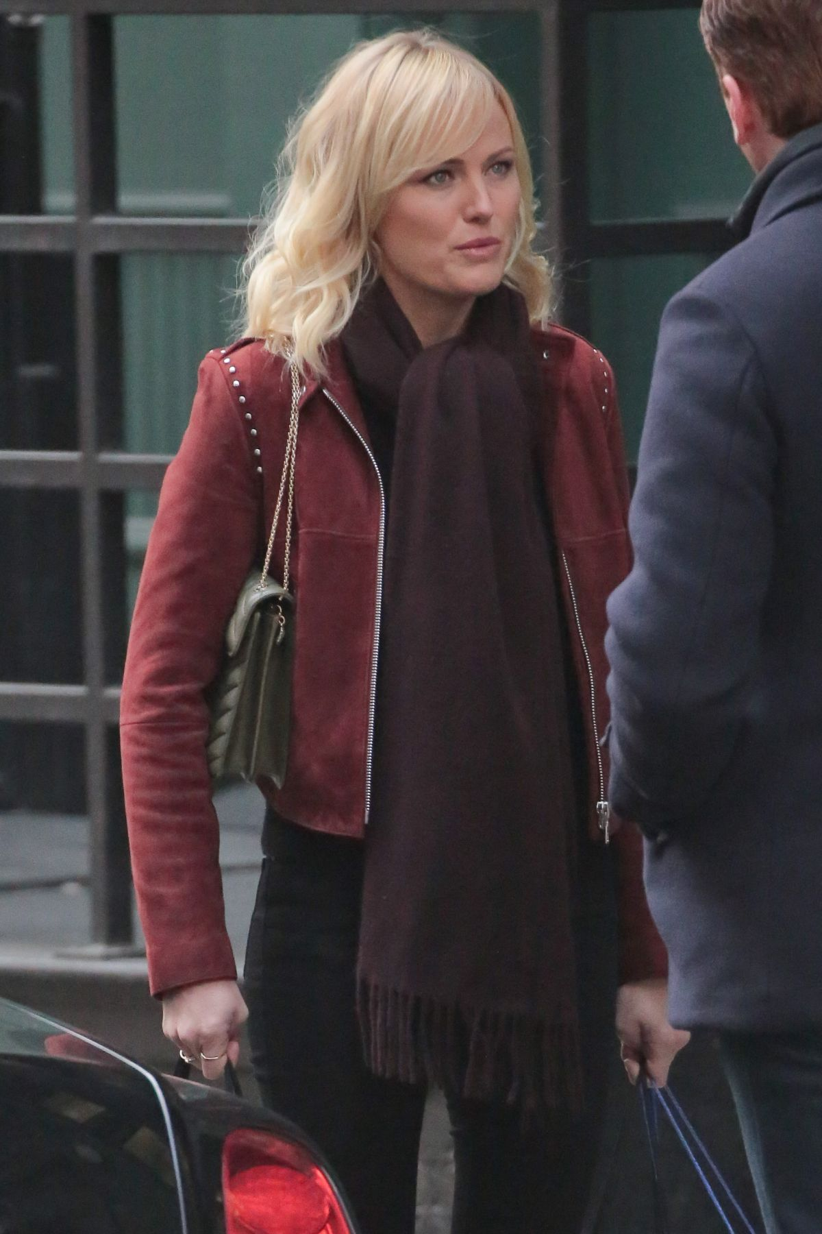 MALIN AKERMAN on the Set of Billions, Season 3 in New York ...
