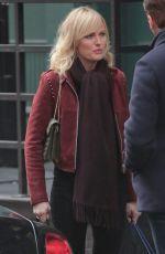 MALIN AKERMAN on the Set of Billions, Season 3 in New York 11/20/2017