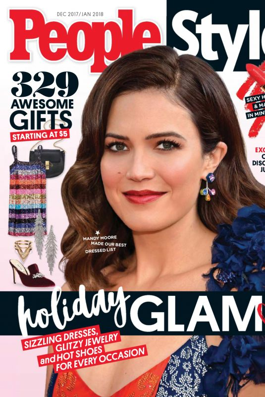 MANDY MOORE in Peoplestyle Magazine, December/January 2017/2018