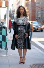 MARGOT BINGHAM Arrives at Build Series in New York 11/20/2017