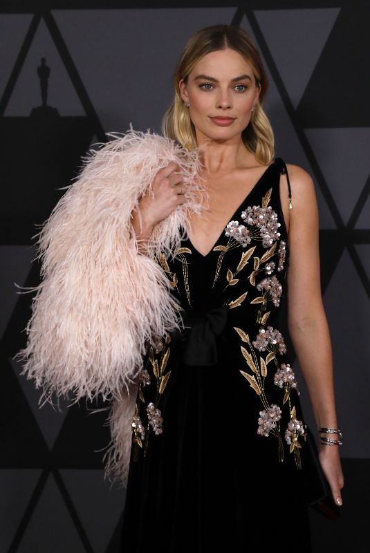MARGOT ROBBIE at AMPAS 9th Annual Governors Awards in Hollywood 11/11/2017