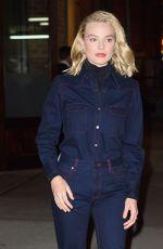 MARGOT ROBBIE Leaves Her Hotel in New York 11/29/2017