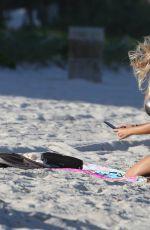 MARIA HERING in Bikini at a Beach in Miami 11/04/2017
