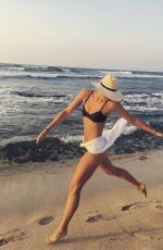 MARIA SHARAPOVA in Bikini at a Beach, 11/02/2017 Instagram Picture