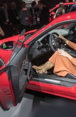 MARIA SHARAPOVA Unveiling Of Porsche Cayman GTS At Los - Los angeles car show 2018