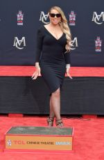 MARIAH CAREY at Hand and Footprint Ceremony at TCL Chinese Theatre in Hollywood 11/01/2017