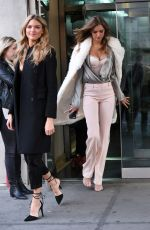 MARTHA HUNT and JOSEPHINE SKRIVER Leaves CBS Studios in New York 11/27/2017