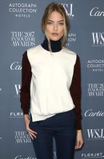 MARTHA HUNT at Wall Street Journal Magazine 2017 Innovator Awards in New York 11/01/2017