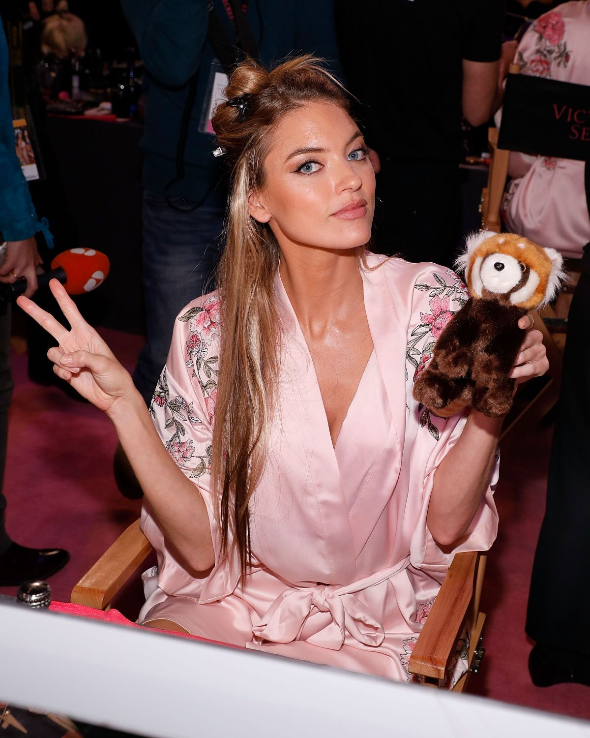 bf35a23b6c9 MARTHA HUNT on the Backstage at 2017 VS Fashion Show in Shanghai 11 20 2017