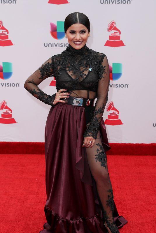 MARTINA LA PELIGROSA at Latin Grammy Awards 2017 in Las Vegas 11/16/2017