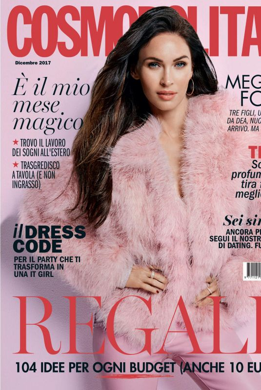 MEGAN FOX in Cosmopolitan Magazine, Italy December 2017