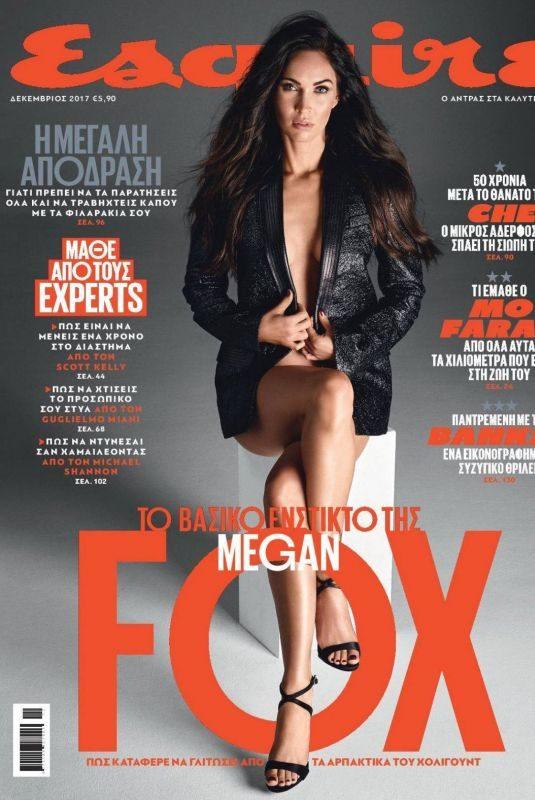 MEGAN FOX in Esquire Magazine, Greece December 2017