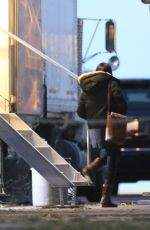 MEGHAN MARKLE on the Set of Suits in Toronto 11/12/2017