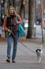 MELISSA BENOIST Out with Her Dog in Vancouver 11/15/2017