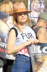 MENA SUVARI at Anti-fur Protest in Los Angeles 11/24/2017