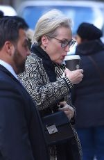 MERYL STREEP Out for Coffe in New York 11/20/2017