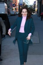 MICHELLE DOCKERY Arrives at AOL Build in New York 11/20/2017