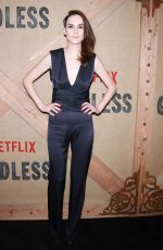 MICHELLE DOCKERY at Godless Series Premiere in New York 11/19/2017