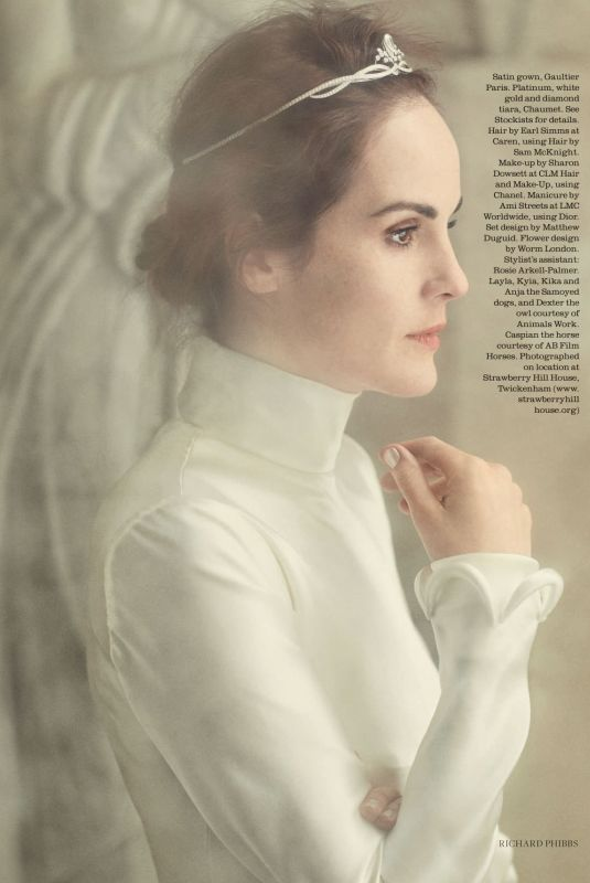 MICHELLE DOCKERY in Town & Country Magazine, UK December 2017