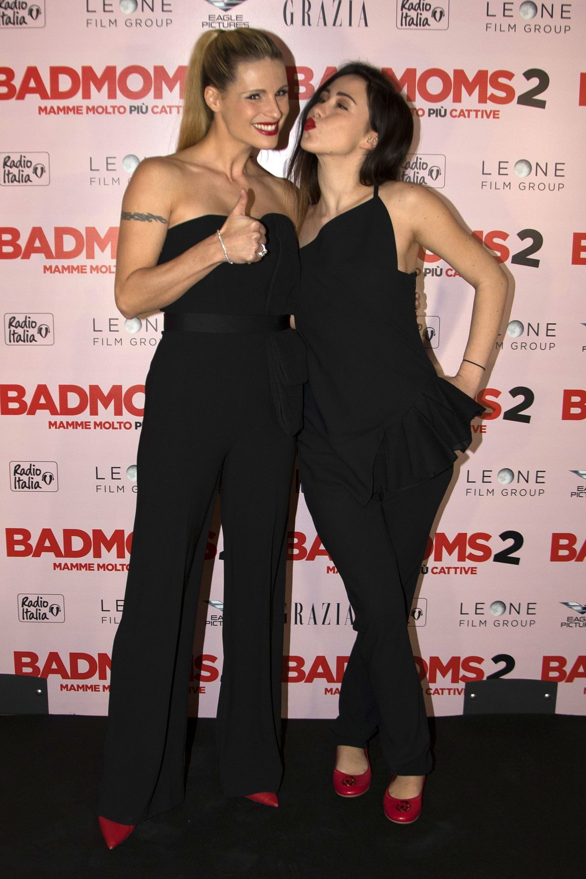 Michelle Hunziker And Aurora Ramazzotti At Bad Moms 2 Premiere In