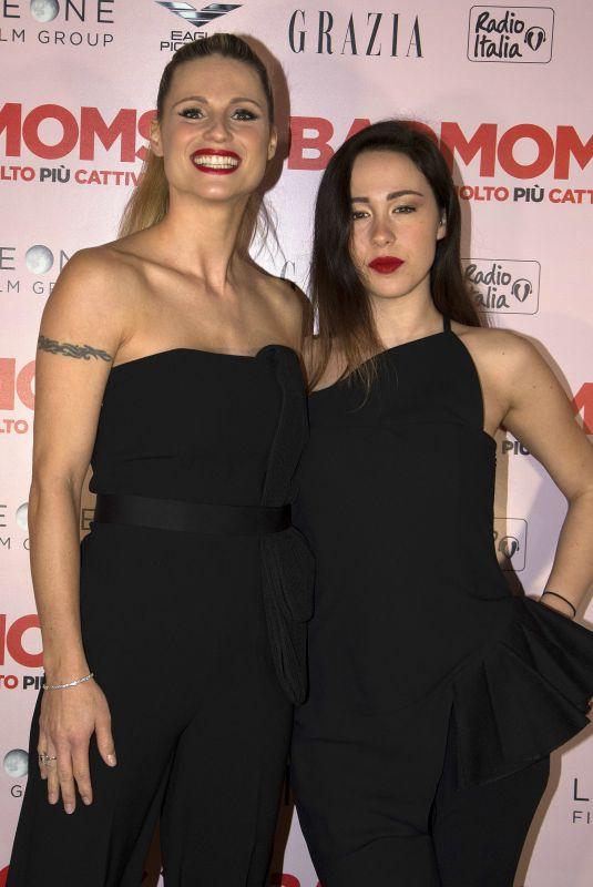 MICHELLE HUNZIKER and AURORA RAMAZZOTTI at Bad Moms 2 Premiere in Milan 22/17/2017