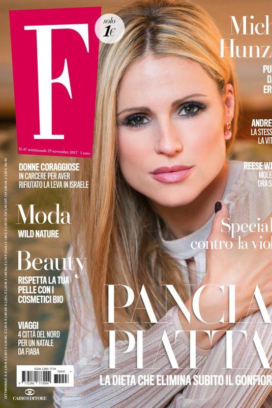 MICHELLE HUNZIKER in F Magazine, November 2017