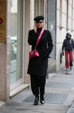 MICHELLE HUNZIKER Out in Milan 11/08/2017