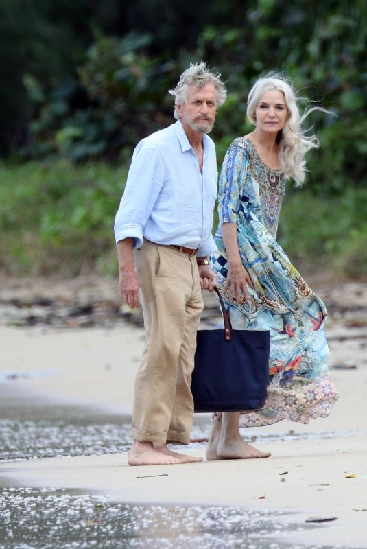 MICHELLE PFEIFFER on the Set of Ant-man and The Wasp at a Beach in Hawaii 11/19/2017