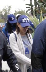 MILA KUNIS and Ashton Kutcher Arrives at Dodger Stadium in Los Angeles 10/31/2017