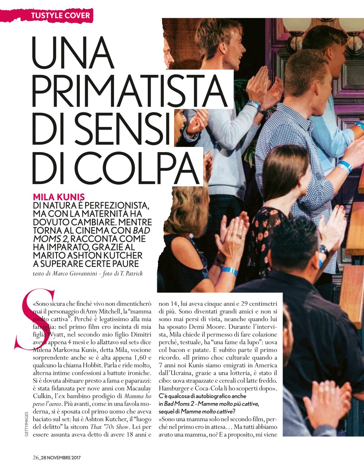Tustyle Magazine November 2015 Issue: MILA KUNIS In Tu Style Magazine, November 2017