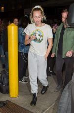 MILEY CYRUS Arrives at Her Hotel in New York 111/03/2017