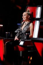 MILEY CYRUS at The Voice, Season 13 Shows 11/27/2017