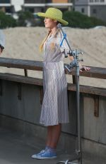 MILEY CYRUS on the Set of Her New Music Video in Venice 11/16/2017