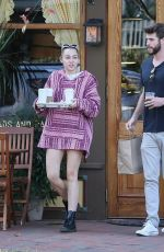MILEY CYRUS Out for Coffee To Go in Savannah 11/08/2017