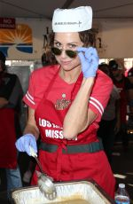MINNIE DRIVER at Los Angeles Mission Thanksgiving Meal for the Homeless in Los Angeles 11/22/2017
