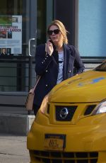 MISCHA BARTON Hailing a Taxi Out in New York 11/09/2017