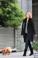 MISCHA BARTON Walks Her Dogs in New York 11/13/2017